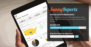 Sunnyreports launch page